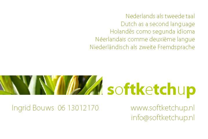 Visitekaartje Softketchup